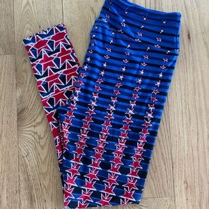 LulaRoe TC Stars Leggings